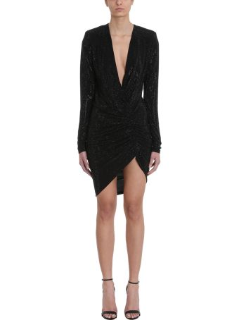 Alexandre Vauthier Crystalized Black Mini Dress