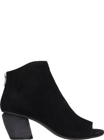 Officine Creative Black Suede Ankle Boots