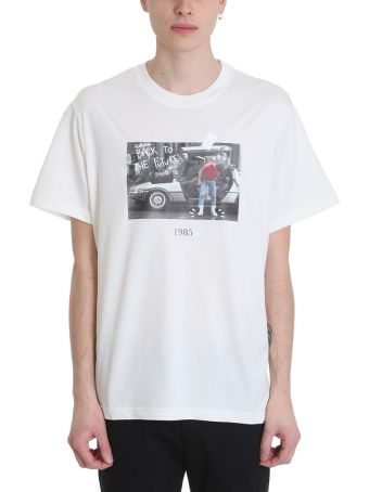 Throw Back Marty White Cotton T-shirt