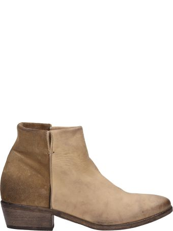 Strategia Beige Suede And Leather Ankle Boots