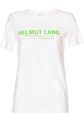 Helmut Lang Logo Baby Tee In Green