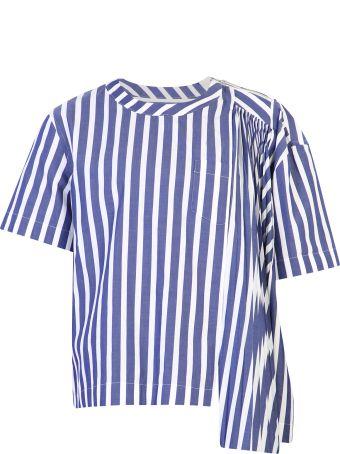 Sacai Striped Cotton Blouse