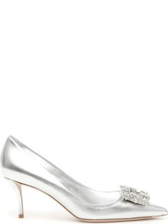 Roger Vivier Flower Buckle 65 Pumps