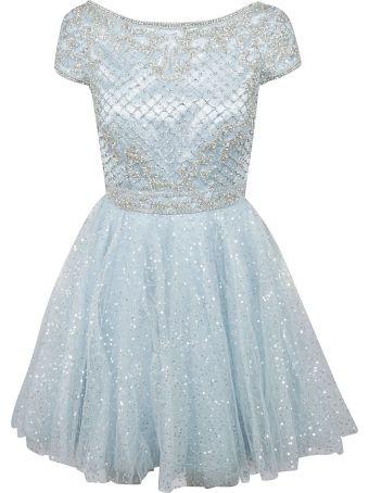 Sherri Hill Beaded Scallop Hem Dress
