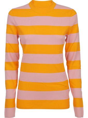 Calvin Klein Striped Fine Knit Sweater