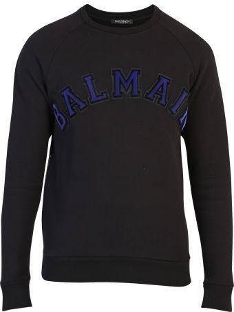 Balmain Black Branded Sweatshirt
