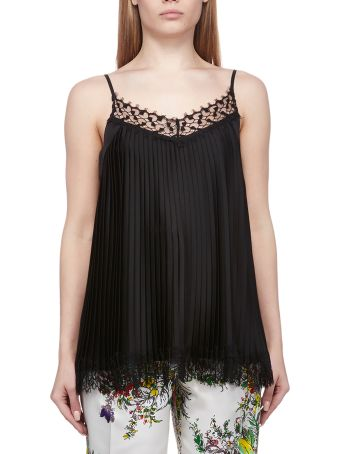 Blumarine Pleated Lace Top