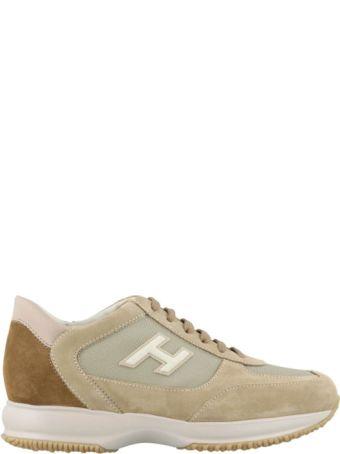 Hogan New Interactive Suede Beige Sneakers Hxm00n0q102jgf489o