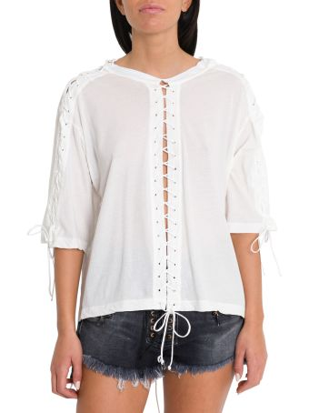 Ben Taverniti Unravel Project Lace-up Tee