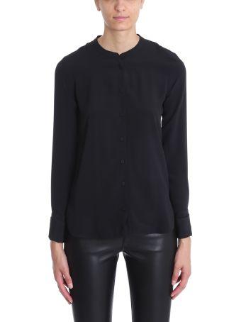 Mauro Grifoni Mao Collar Silk Shirt