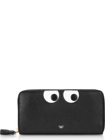 Anya Hindmarch Black Eyes Large Zip-around Wallet