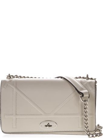 Marc Ellis Shane Lasaruga Shoulder Bag In Ivory Leather