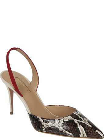 Aquazzura Back Strap Pointed Toe Pumps