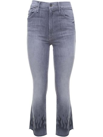 Mother The Insider Ankle Fray High-rise Jeans