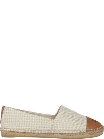 Tory Burch Counterblock Canvas Espadrillas