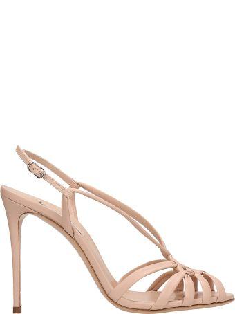Casadei Powder Leather Sandals