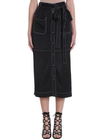 See by Chloé Black Cotton Long Skirt