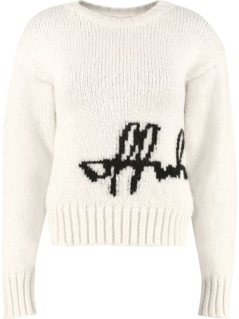Off-White Off-white Intarsia Crew-neck Sweater