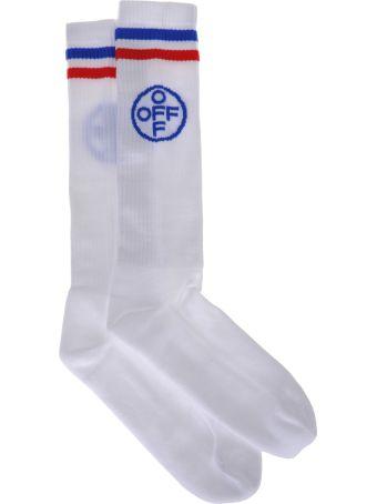 Off-White Off White Off-white Long Cross Off Socks