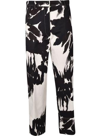 Dries Van Noten Flower Pattern Trousers