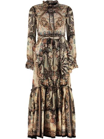 Etro Printed Georgette Maxi-dress