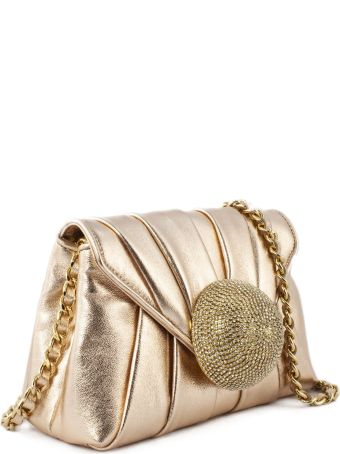Gedebe Claire Rose Gold Nappa Clutch