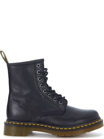 Dr. Martens 8 Fori Black Nappa Leather Ankle Boots