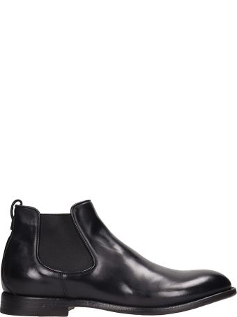 Franceschetti Black Leather Beatles Ankle Boots