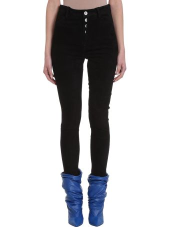 Ben Taverniti Unravel Project High Waist Black Suede Trousers