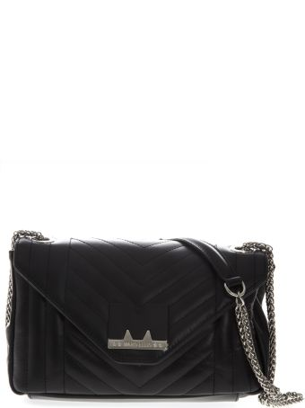 Marc Ellis Gigi Shoulder Bag In Black Leather