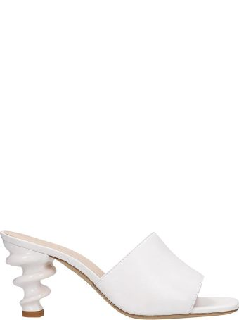 Kalda Nima Sandals In White Leather
