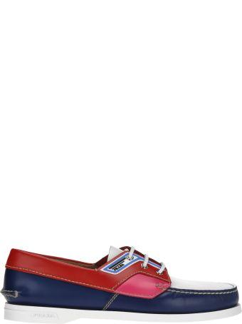 Prada Prada Colour Block Deck Shoes