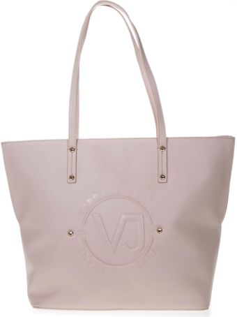 Versace Nude Tote Faux Leather Bag