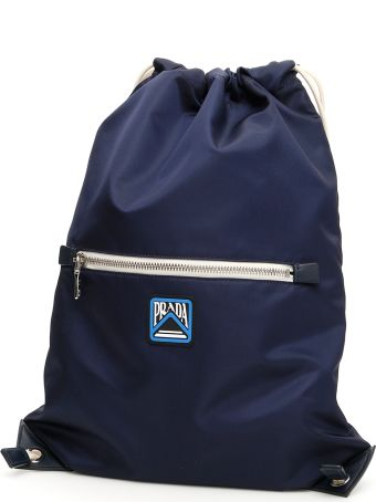 Prada Backpack With Logo Patch