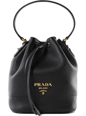 Prada Logo Bucket Bag