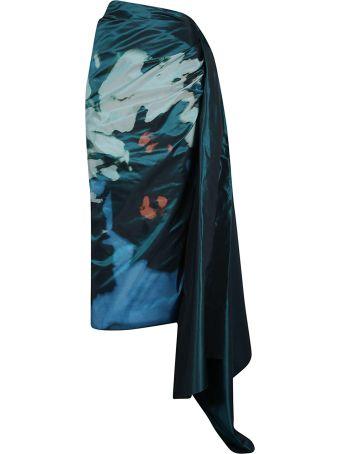Dries Van Noten Asymmetric Printed Skirt