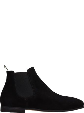 Officine Creative Black Suede Revien Ankle Boots
