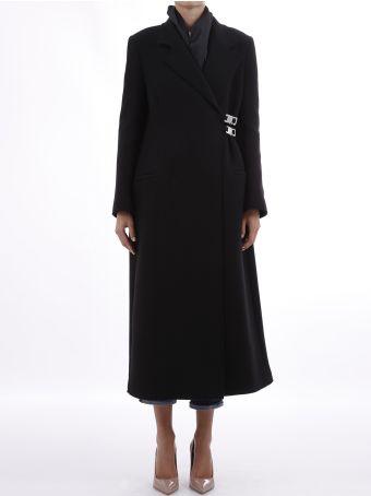 Alyx Long Coat In Black Wool