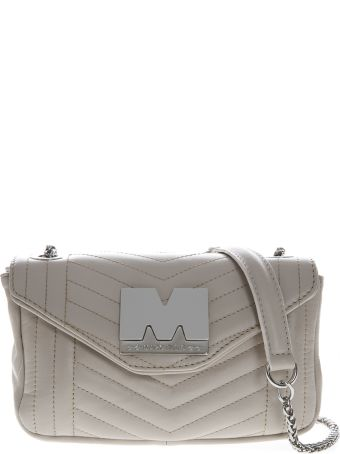 Marc Ellis Gigi Shoulder Bag In Milk Leather