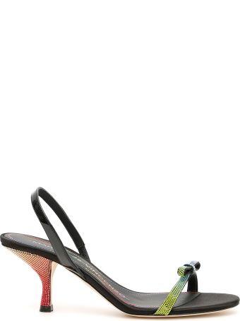 Marco de Vincenzo Multicolor Rhinestone Sandals