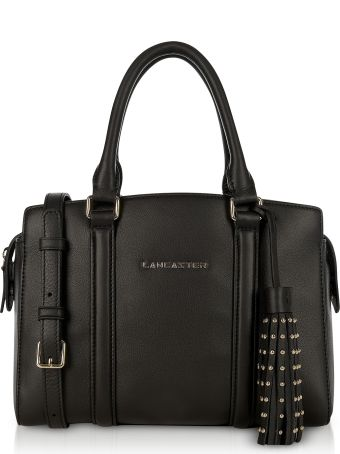 Lancaster Paris Ana Black Leather Small Tote Bag