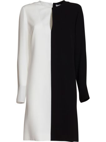 Givenchy Two-toned Crepe Dress In Black/white