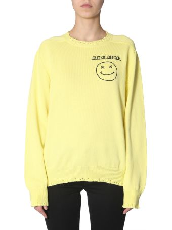 Riccardo Comi Sweater With  Out Of Office  Embroidery
