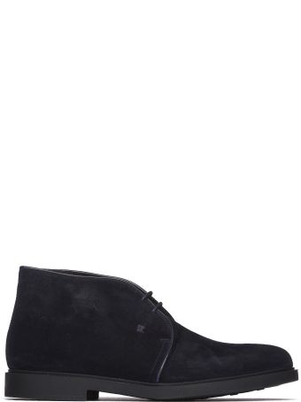 Fratelli Rossetti One Blue Suede Desert Boots