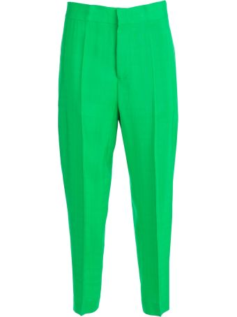 SEMICOUTURE Erika Cavallini Cropped High-waisted Trousers