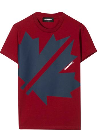 Dsquared2 Teen Burgundy T-shirt