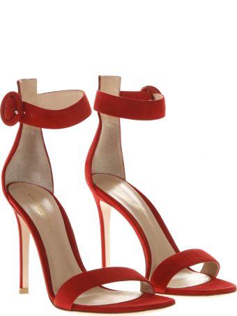 Gianvito Rossi Portofino Red Suede Sandals