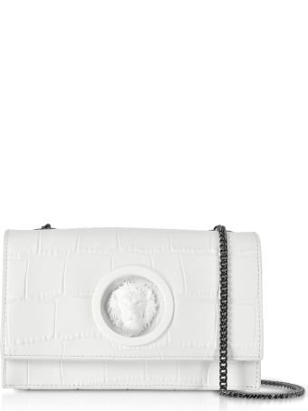 Versus Versace Versace Versus Lion Mock Croco-embossed Leather Shoulder Bag