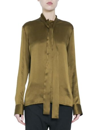 Haider Ackermann Khaki Silk Shirt