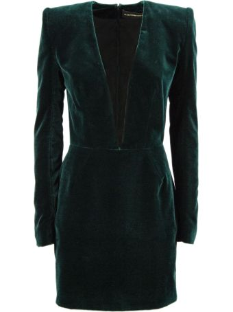 Alexandre Vauthier Green Velvet Dress.
